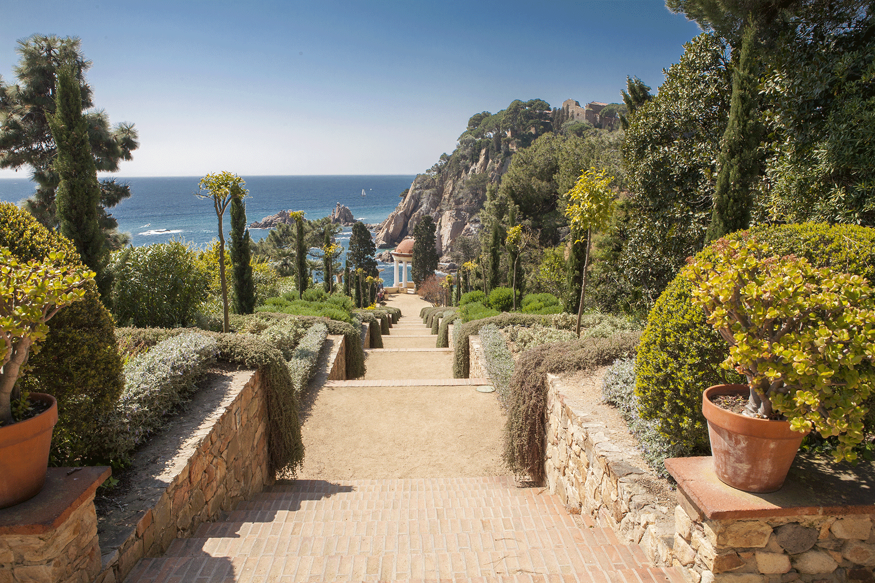 Gardens outside Barcelona, Marimurtra, Costa Brava