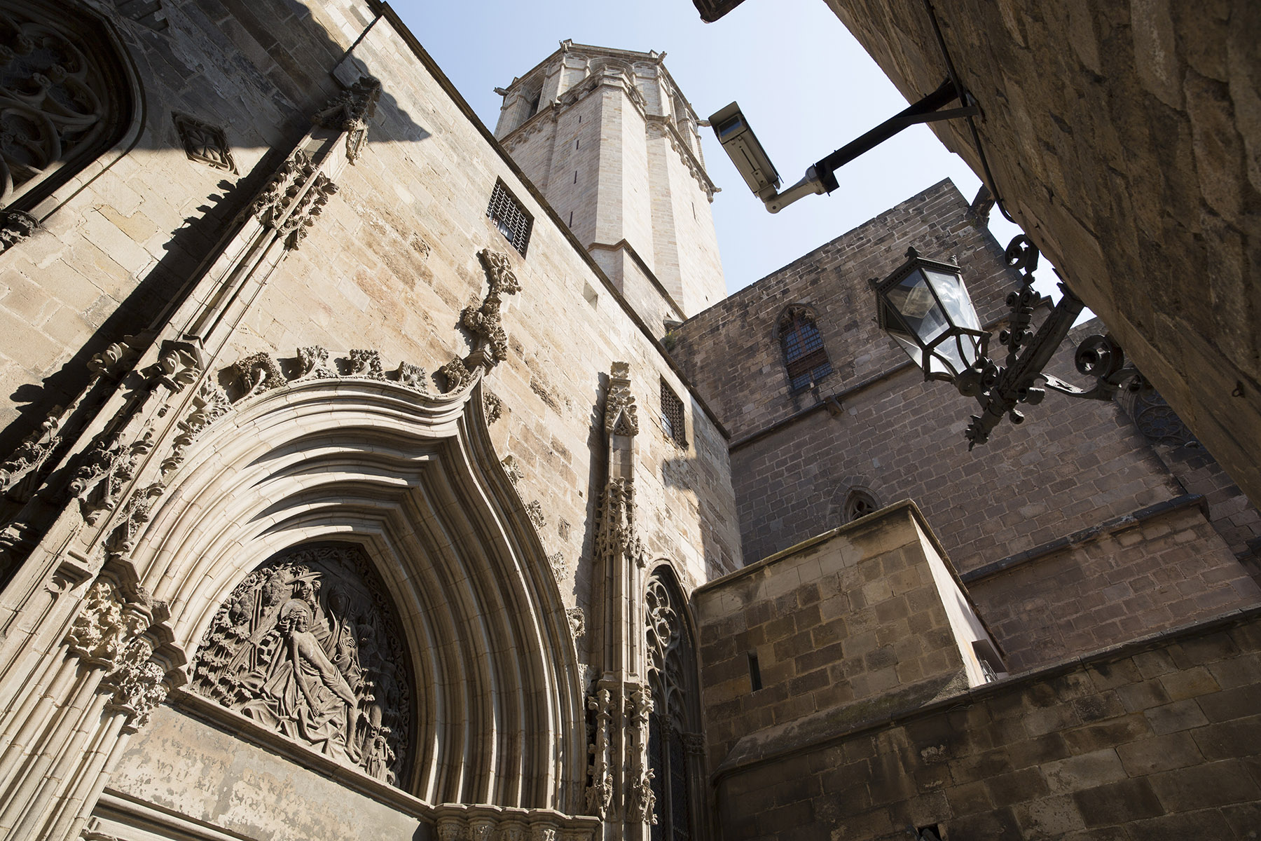 Gothic Quarter of Barcelona facade cathedral apsis
