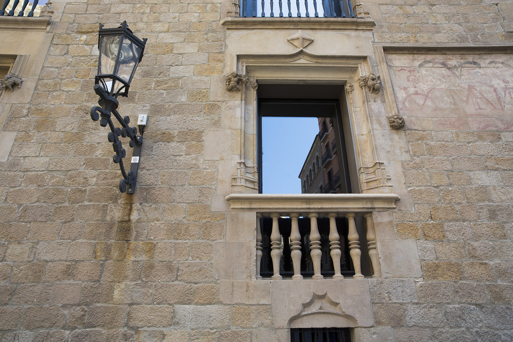 Lamp in the gothic quarter