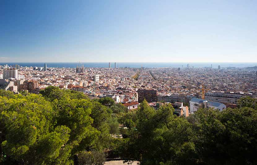 Views from the Park Guell over Barcelona