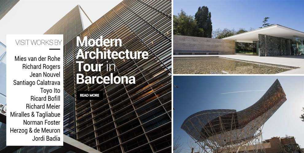 Architecture tour to the modern architecture of Barcelona