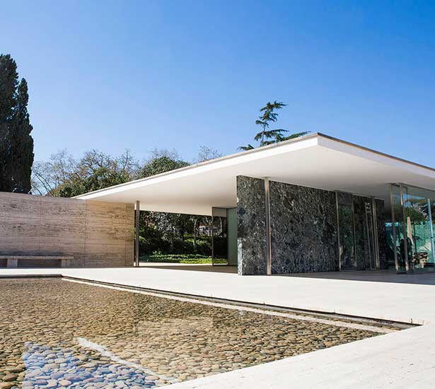 The Barcelona Pavilion by Mies van der Rohe