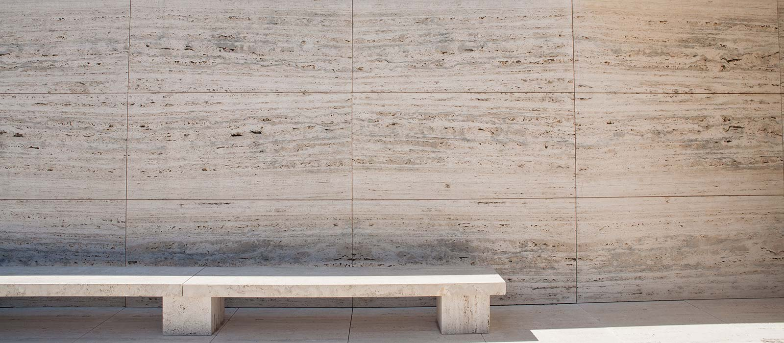 Mies van der Rohes marble and bench